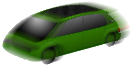 A representation of one of the many possible shapes of the EStarCar (bodies can be any shape that fits the chassis). Click for the EStarCar page (a new window will open).