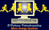 Click here to rush into E*Future's teleshop and buy the products you have chosen from the catalogue: solar energy, fuel-cell energy, combination systems, accessories (note: E*Future does not carry the methanol fuel-cells)