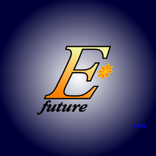 The logo and trademark of EStarFuture Corporation Limited (also trading as E*Future TM), in the livery for micro solar-hydrogen systems. Copyright 2005 Nobilangelo Ceramalus and EStarFuture Corporation. Click for company details.