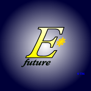 The logo and trademark of EStarFuture Corporation Limited (also trading as E*Future TM) in the livery for solar-ultracapactor products. Copyright 2005 Nobilangelo Ceramalus and EStarFuture Corporation. Click for company details.
